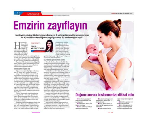 Emzirin Zayıflayın (Sabah Gazetesi-Cumartesi Eki)