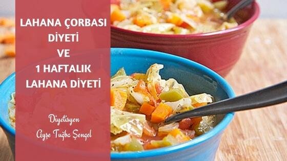 Lahana çorbası diyeti ve lahana diyeti listesi by Diyetisyen Ayşe Tuğba Şengel